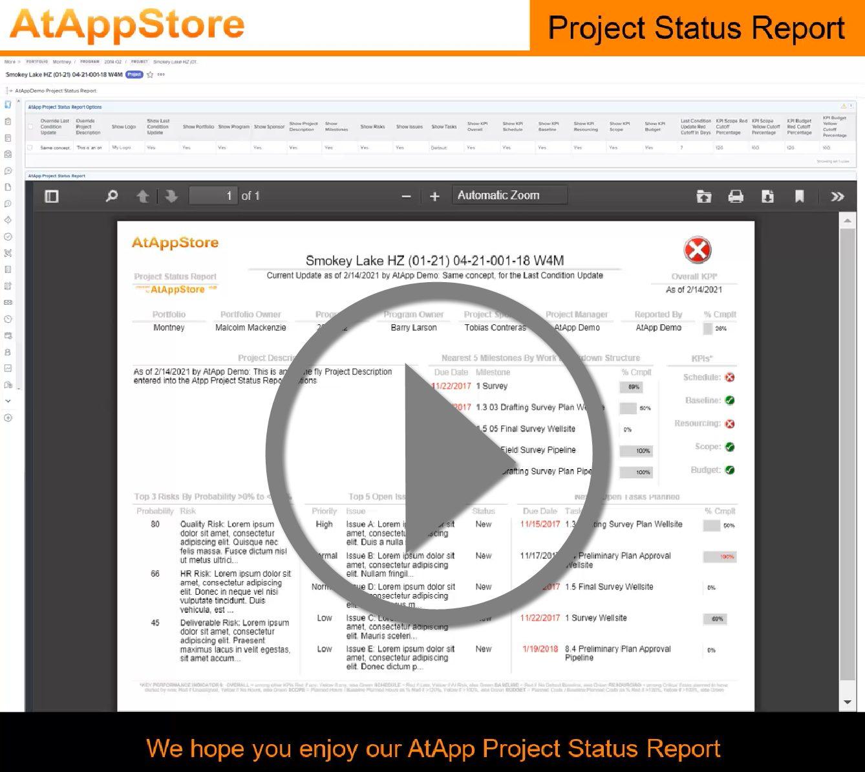 AtAppProjectStatusReportVideo